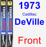 Front Wiper Blade Pack for 1973 Cadillac DeVille - Vision Saver