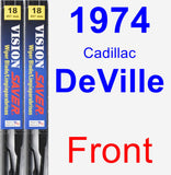 Front Wiper Blade Pack for 1974 Cadillac DeVille - Vision Saver
