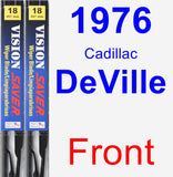 Front Wiper Blade Pack for 1976 Cadillac DeVille - Vision Saver