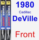 Front Wiper Blade Pack for 1980 Cadillac DeVille - Vision Saver