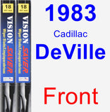 Front Wiper Blade Pack for 1983 Cadillac DeVille - Vision Saver