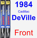 Front Wiper Blade Pack for 1984 Cadillac DeVille - Vision Saver