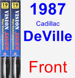 Front Wiper Blade Pack for 1987 Cadillac DeVille - Vision Saver