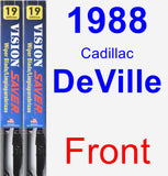 Front Wiper Blade Pack for 1988 Cadillac DeVille - Vision Saver