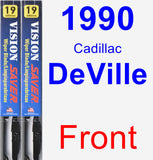 Front Wiper Blade Pack for 1990 Cadillac DeVille - Vision Saver