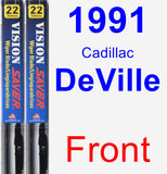 Front Wiper Blade Pack for 1991 Cadillac DeVille - Vision Saver