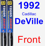 Front Wiper Blade Pack for 1992 Cadillac DeVille - Vision Saver