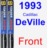 Front Wiper Blade Pack for 1993 Cadillac DeVille - Vision Saver