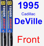 Front Wiper Blade Pack for 1995 Cadillac DeVille - Vision Saver