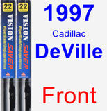 Front Wiper Blade Pack for 1997 Cadillac DeVille - Vision Saver