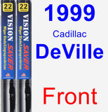 Front Wiper Blade Pack for 1999 Cadillac DeVille - Vision Saver