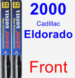 Front Wiper Blade Pack for 2000 Cadillac Eldorado - Vision Saver
