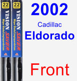 Front Wiper Blade Pack for 2002 Cadillac Eldorado - Vision Saver