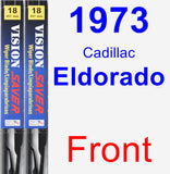 Front Wiper Blade Pack for 1973 Cadillac Eldorado - Vision Saver