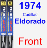 Front Wiper Blade Pack for 1974 Cadillac Eldorado - Vision Saver