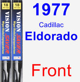 Front Wiper Blade Pack for 1977 Cadillac Eldorado - Vision Saver
