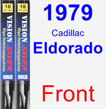 Front Wiper Blade Pack for 1979 Cadillac Eldorado - Vision Saver