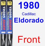 Front Wiper Blade Pack for 1980 Cadillac Eldorado - Vision Saver