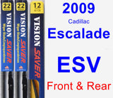 Front & Rear Wiper Blade Pack for 2009 Cadillac Escalade ESV - Vision Saver