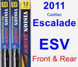 Front & Rear Wiper Blade Pack for 2011 Cadillac Escalade ESV - Vision Saver