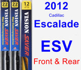 Front & Rear Wiper Blade Pack for 2012 Cadillac Escalade ESV - Vision Saver