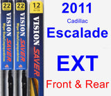 Front & Rear Wiper Blade Pack for 2011 Cadillac Escalade EXT - Vision Saver