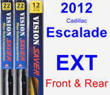 Front & Rear Wiper Blade Pack for 2012 Cadillac Escalade EXT - Vision Saver