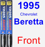 Front Wiper Blade Pack for 1995 Chevrolet Beretta - Vision Saver