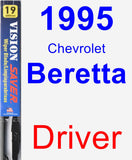 Driver Wiper Blade for 1995 Chevrolet Beretta - Vision Saver
