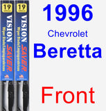 Front Wiper Blade Pack for 1996 Chevrolet Beretta - Vision Saver