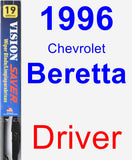 Driver Wiper Blade for 1996 Chevrolet Beretta - Vision Saver