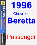 Passenger Wiper Blade for 1996 Chevrolet Beretta - Vision Saver