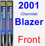 Front Wiper Blade Pack for 2001 Chevrolet Blazer - Vision Saver