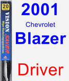 Driver Wiper Blade for 2001 Chevrolet Blazer - Vision Saver