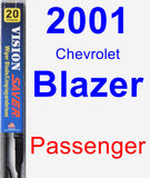 Passenger Wiper Blade for 2001 Chevrolet Blazer - Vision Saver