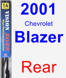 Rear Wiper Blade for 2001 Chevrolet Blazer - Vision Saver