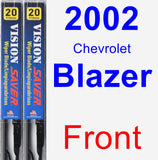 Front Wiper Blade Pack for 2002 Chevrolet Blazer - Vision Saver