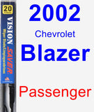Passenger Wiper Blade for 2002 Chevrolet Blazer - Vision Saver