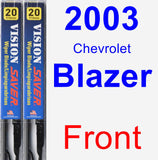 Front Wiper Blade Pack for 2003 Chevrolet Blazer - Vision Saver