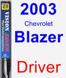 Driver Wiper Blade for 2003 Chevrolet Blazer - Vision Saver