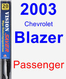 Passenger Wiper Blade for 2003 Chevrolet Blazer - Vision Saver
