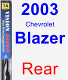Rear Wiper Blade for 2003 Chevrolet Blazer - Vision Saver