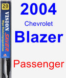 Passenger Wiper Blade for 2004 Chevrolet Blazer - Vision Saver