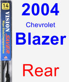 Rear Wiper Blade for 2004 Chevrolet Blazer - Vision Saver