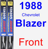 Front Wiper Blade Pack for 1988 Chevrolet Blazer - Vision Saver