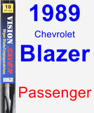Passenger Wiper Blade for 1989 Chevrolet Blazer - Vision Saver