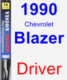 Driver Wiper Blade for 1990 Chevrolet Blazer - Vision Saver