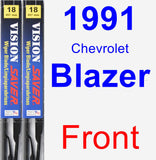 Front Wiper Blade Pack for 1991 Chevrolet Blazer - Vision Saver