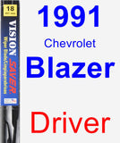Driver Wiper Blade for 1991 Chevrolet Blazer - Vision Saver