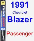 Passenger Wiper Blade for 1991 Chevrolet Blazer - Vision Saver